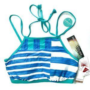NWT BEACH HOUSE Stripe Halter Bikini TOP - 12